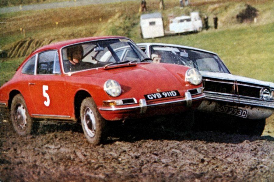 Vic Elford, premier vainqueur de l'histoire du rallycross. C'était à Lydden-Hill, en 1967, sur Porsche.