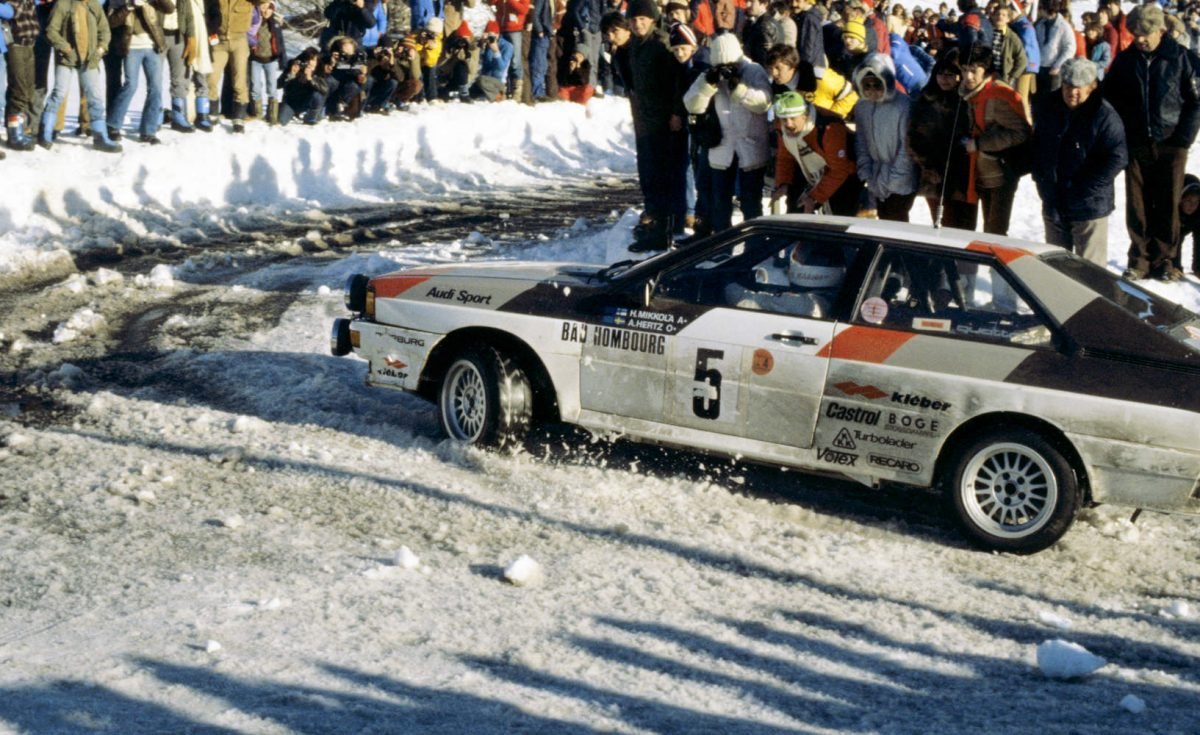 Hannu Mikkola & Arne Hertz, Audi Quattro - Rallye Monte Carlo 1981