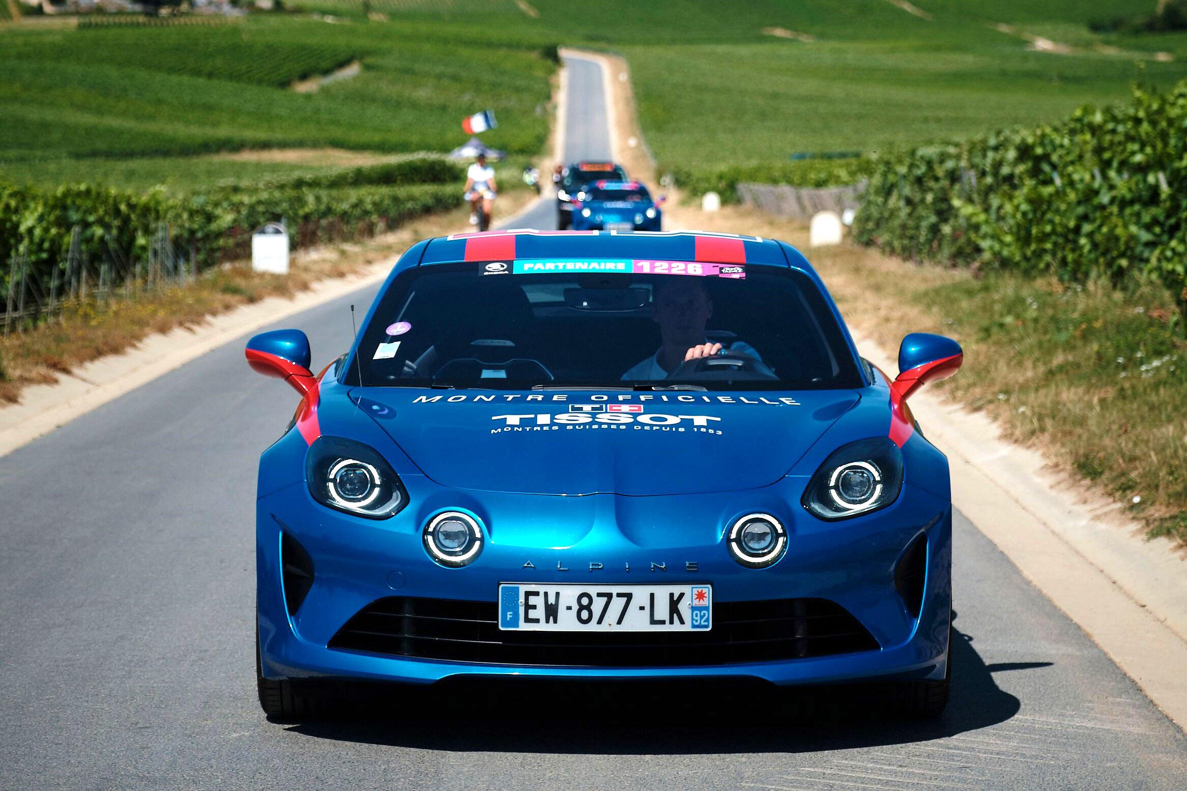 Les Alpine A110 Tissot du Tour de France
