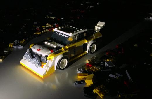 Audi S1 quattro Groupe B Lego. Le groupe B, comme BRIQUE.