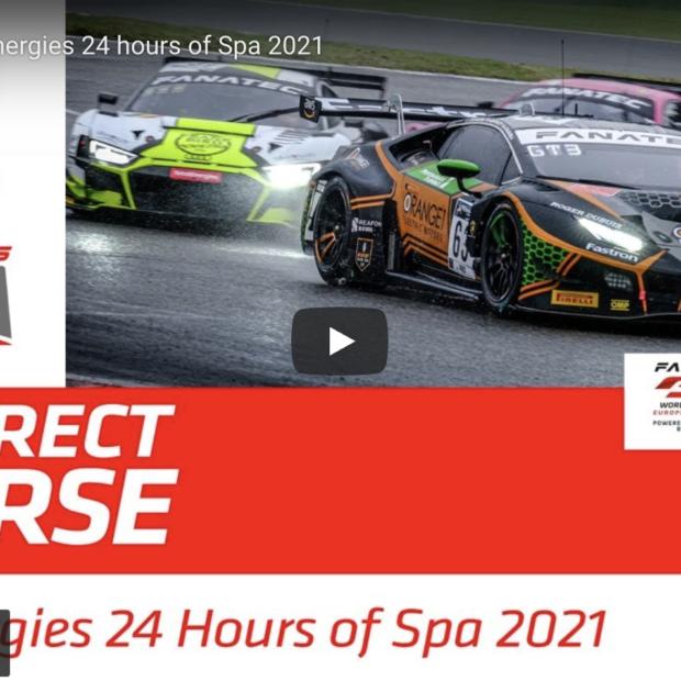 En direct : 24 Heures de Spa-Francorchamps