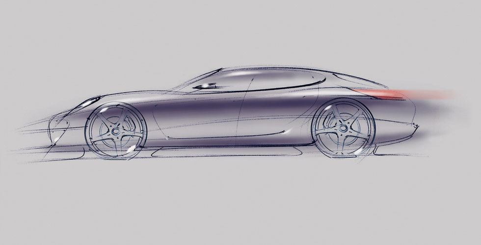Dessin : Porsche Panamera