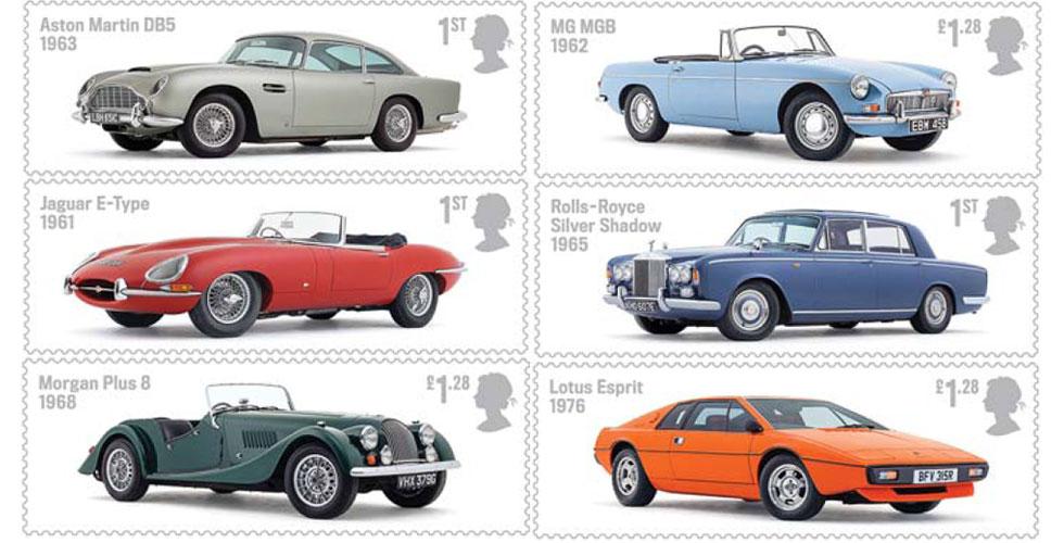 Des timbres célèbrent les légendes mécaniques britanniques