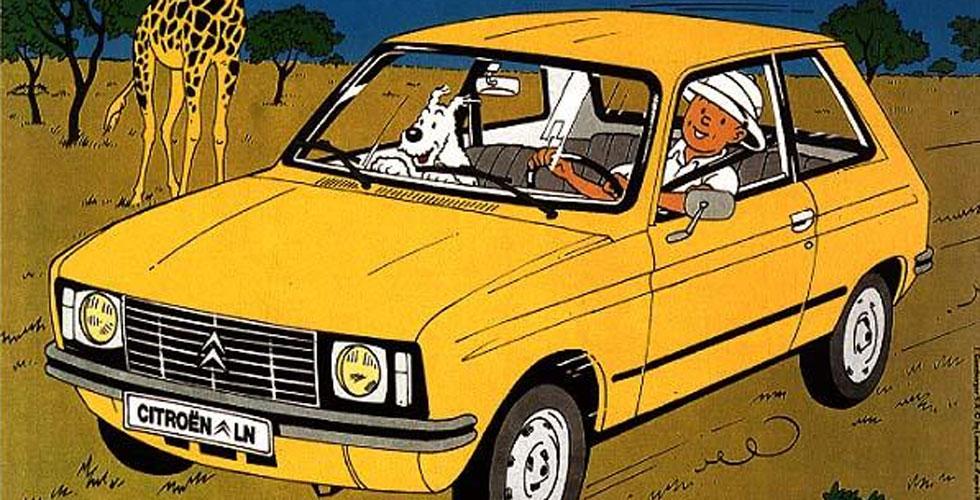 Quand Tintin roulait en Citroën
