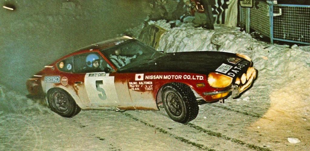 1972 : la Nissan 240Z sur le podium du Rallye Monte-Carlo