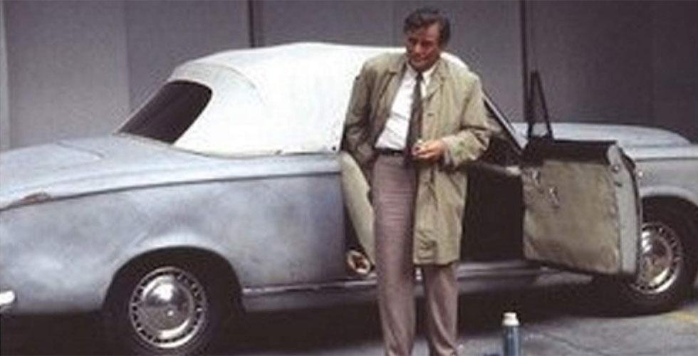 Publicité : Columbo abandonne sa Peugeot 403 Cabriolet