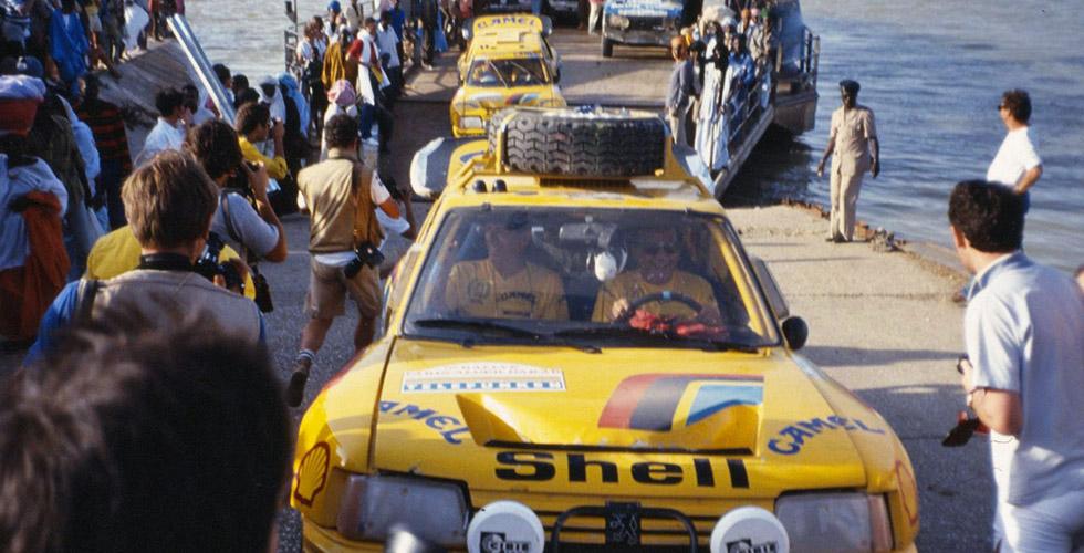 Peugeot 205 Turbo 16 : les photos inédites du Paris-Dakar 1987