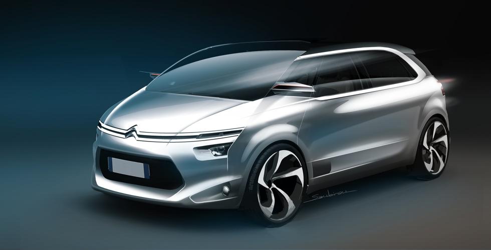 Dessin : Citroën C4 Picasso