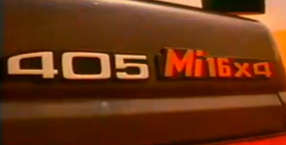 Publicité : Peugeot 405 Mi16x4