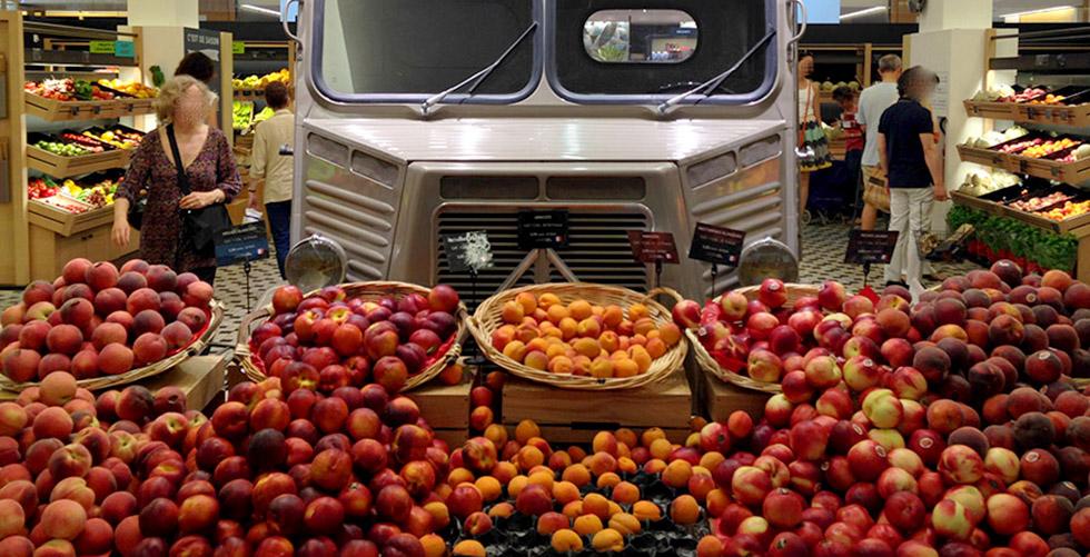 Citroën HY : 5 fruits et légumes à la Grande Epicerie