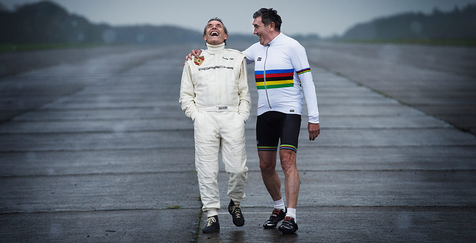 Jacky Ickx et Eddy Merckx s'exposent