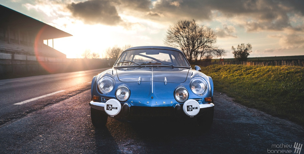 Alpine Renault A110 : le shooting photo de Mathieu Bonnevie