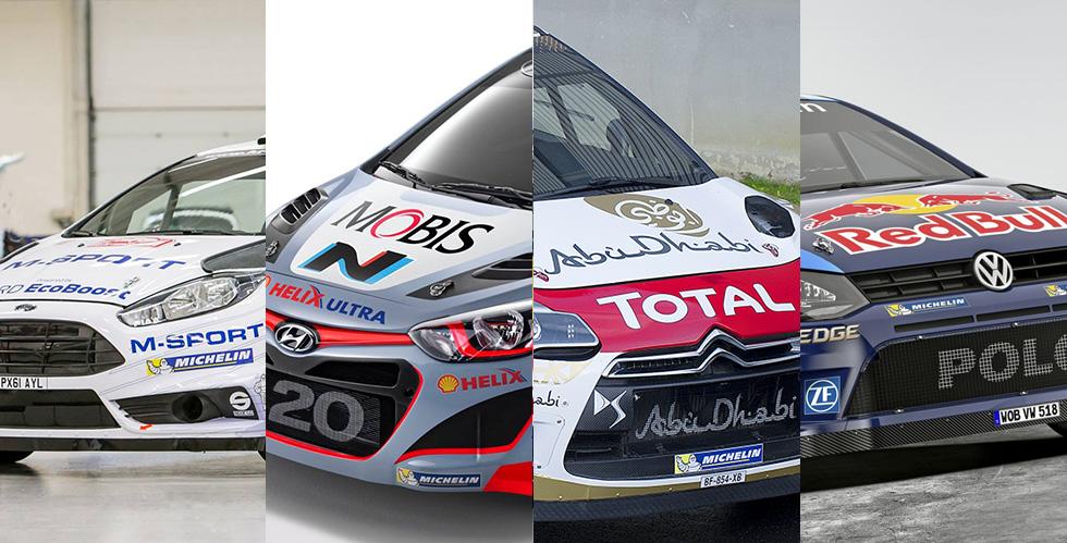 WRC 2015 : Citroën/DS, Volkswagen, Hyundai et Ford sont prêts