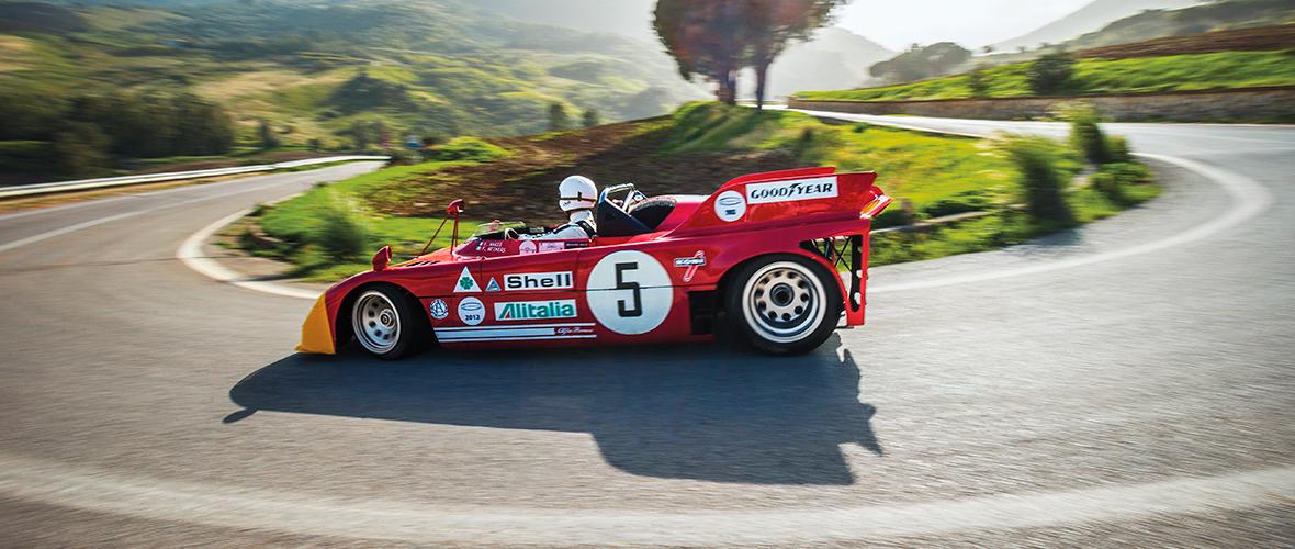 Une Alfa Romeo 33TT3, Daniel Ricciardo et la Targa Florio