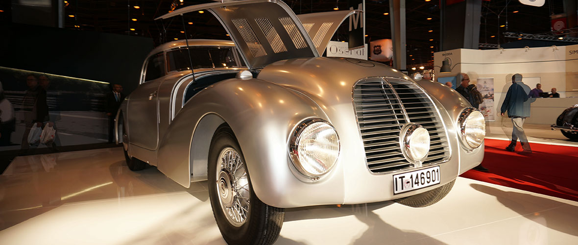 Rétromobile 2015 : Mercedes-Benz 540 K Streamliner