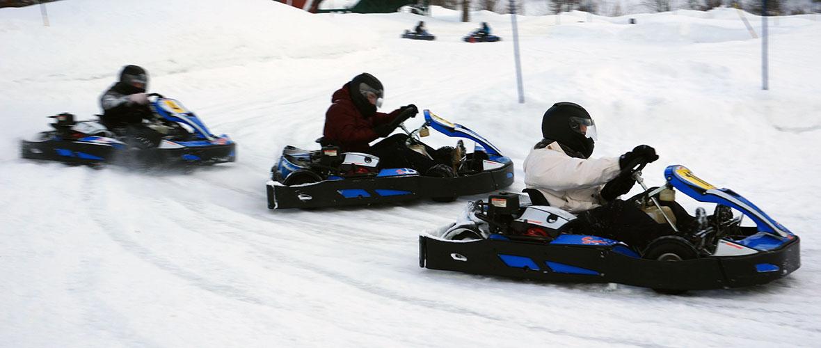 Une session de karting sur glace