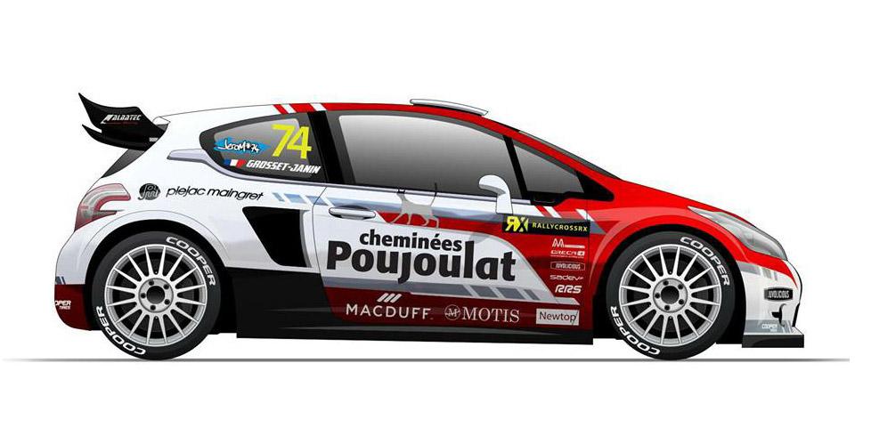 Peugeot 208 WRX pour Jérôme Grosset-Janin