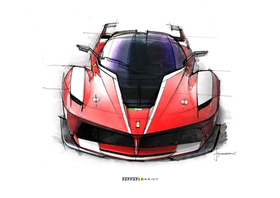 Dessins : Ferrari FXX K