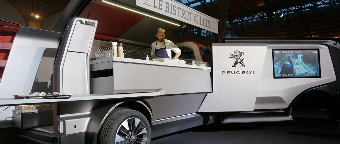 Une Peugeot à boire, à manger et à danser !