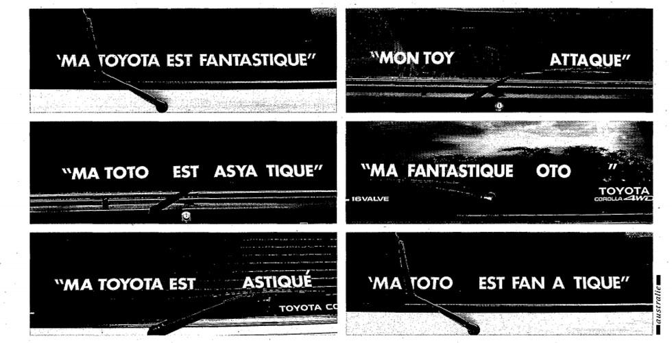 Publicité : «Ma Toyota est fantastique»