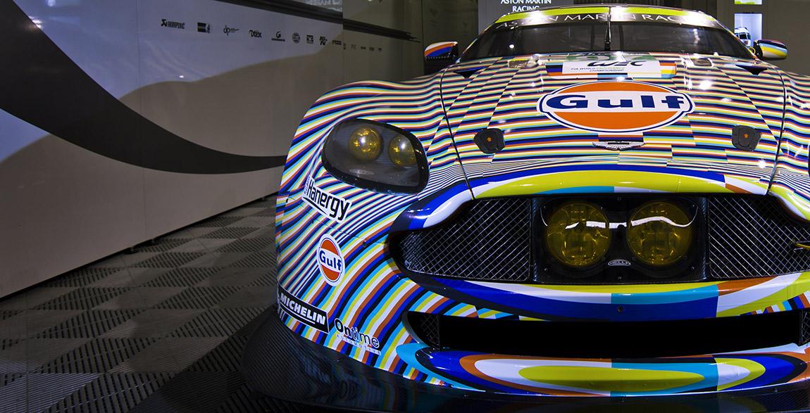 Aston Martin Vantage GTE : l'Art Car Rehberger du Mans 2015. #AMRart