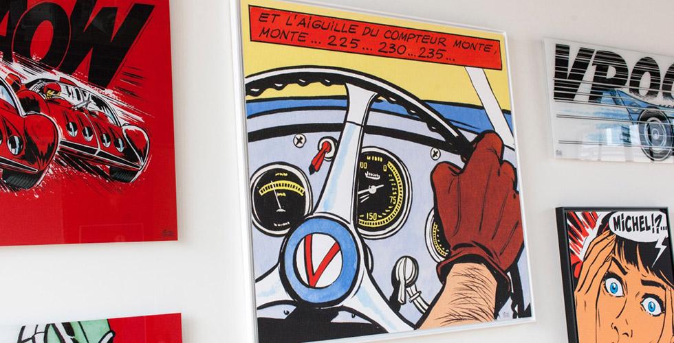 Art & BD : Michel Vaillant sur les murs de nos maisons