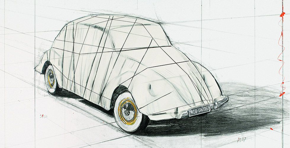 Wrapped VW Beetle : quand Christo emballait la Coccinelle.