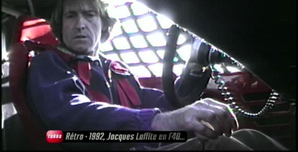 Jacques Laffite au volant de la Ferrari F40 LM