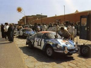 Alpine Renault A110 - Bernard Darniche : Alain Mahe - Rallye du Maroc 1973