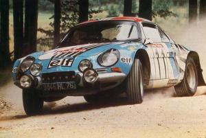 Alpine Renault A110 - Jean-Pierre Nicolas : Michel Vial - Austrian Alpine Rally 1973