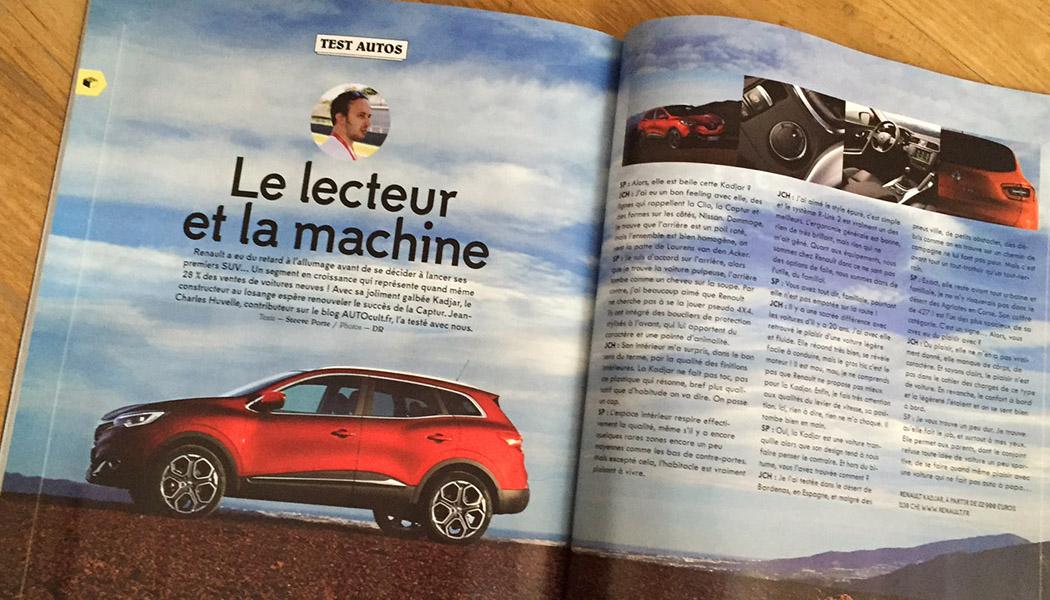 Notre essai du Renault Kadjar dans Plugged Magazine