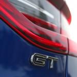 Renault Megane GT 2016 - Photo détail, logo GT, malle arrière.