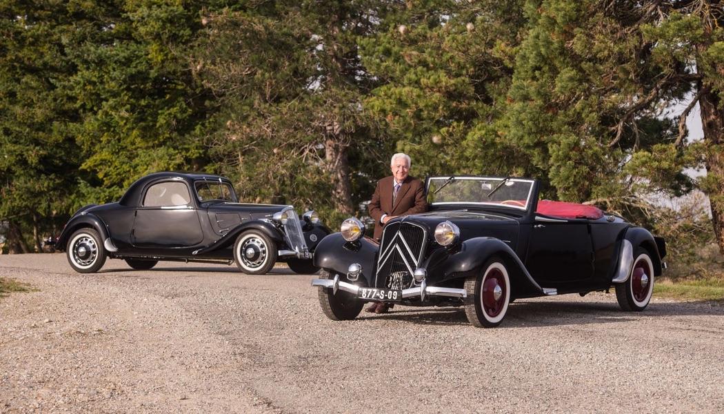 André Trigano vend ses Citroën à Rétromobile