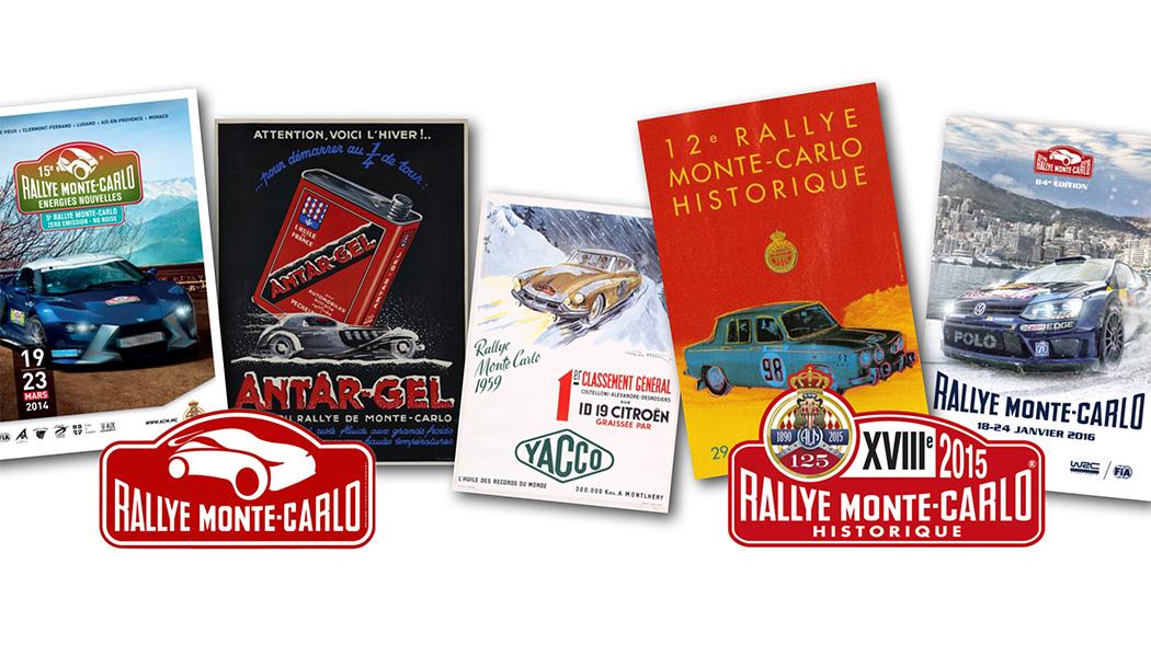 L'affiche du Rallye Monte-Carlo