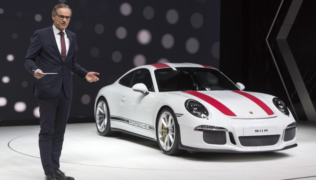 Bravo et merci Porsche! Voici la 911 R