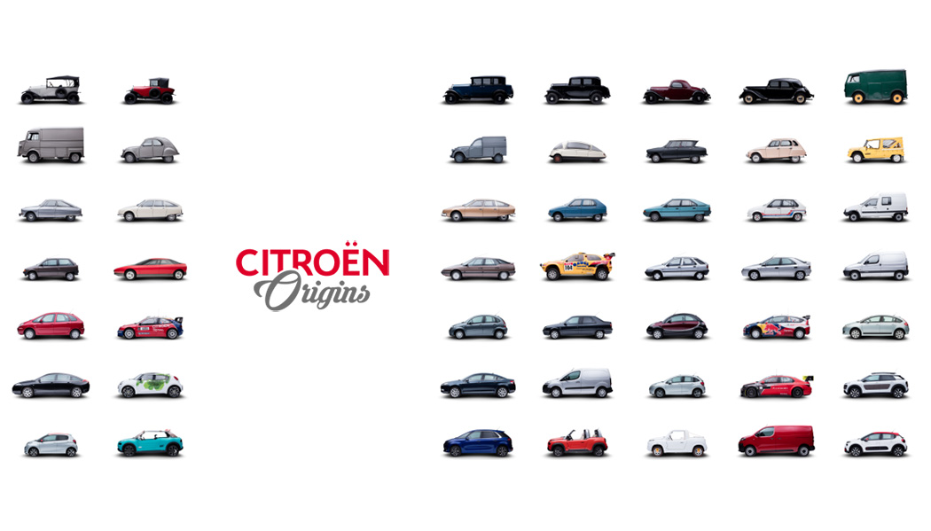 Citroën Origins, sans DS ni SM.