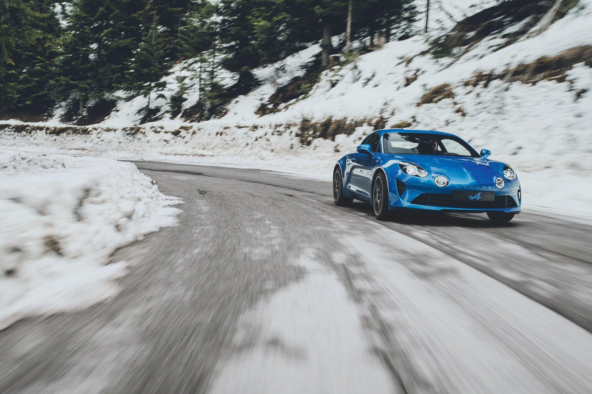 Premiers clichés de l'Alpine A110 Première Edition