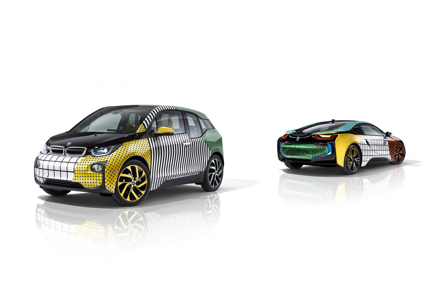 Garage Italia Customs + Memphis Design + BMW i3 + BMW i8 = Art Car