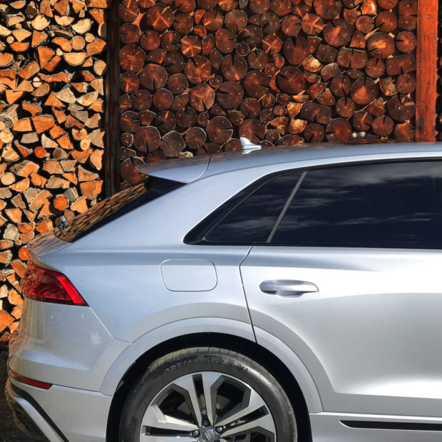 Audi Q8 : un exercice de style pour un mannequin grande taille