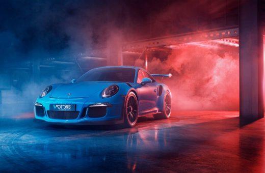 Porsche GT3 RS dans la brume, par Guillaume Petranto