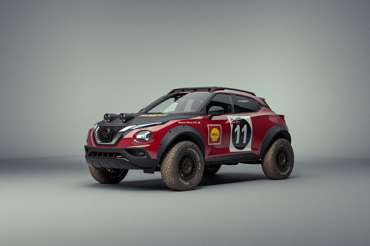 Un Nissan Juke en hommage à la 240Z du Safari Rally